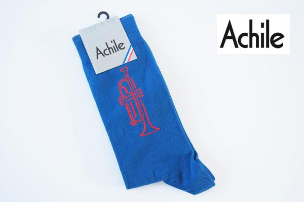 アシル|Achile|クルー丈カジュアルソックス|トランペット柄 イメージ01