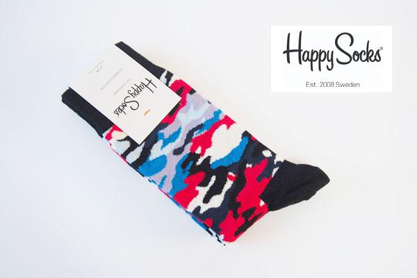 ハッピーソックス|happy socks|クルー丈カモフラ柄カジュアルソックス イメージ01