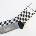 ハッピーソックス|happy socks|クルー丈カジュアルソックス|オプティックソックス|モノトーン イメージ04