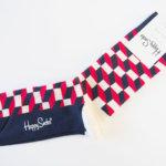 ハッピーソックス|happy socks|クルー丈カジュアルソックス|オプティックソックス|トリコロール イメージ04