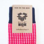 インザボックス|IN THE BOX|ロングホーズ|チェック柄|カジュアルソックス|レッド系 イメージ02