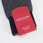 マリコリアーニ|marcoliani|クルー丈ハウンドトゥース柄ソックス|ブラック×グレイ イメージ02