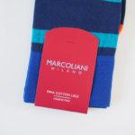 マリコリアーニ|marcoliani|クルー丈ミスマッチボーダーソックス|ネイビー×ライトブルー イメージ02
