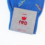 レッドソックス アピール|RED SOX APPEAL|メガネ柄クルー丈ソックス(ブルー) イメージ02