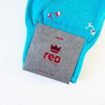 レッドソックス アピール|RED SOX APPEAL|ベスパ柄クルー丈ソックス(ライトブルー) イメージ02