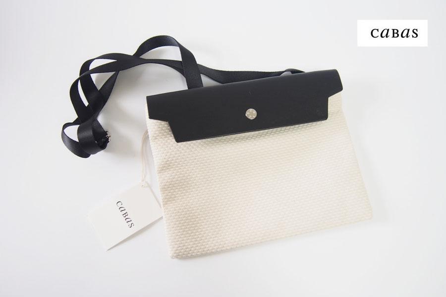 キャバ|CABAS|サコッシュ|CaBas N°60 Micro Shoulder medium|ホワイト×ブラックイメージ01