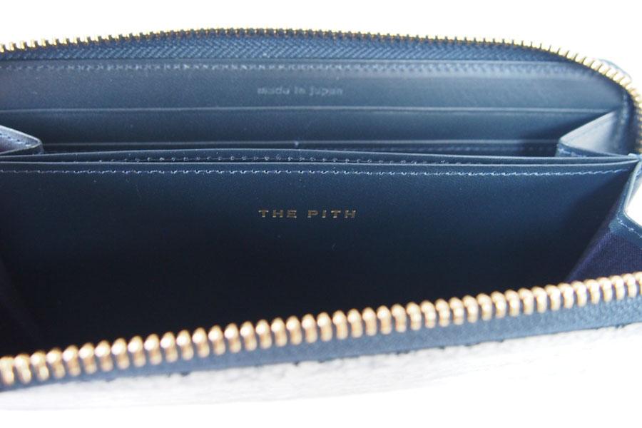 ザ・ピス|THE PITH|ラウンドジップウォレット|三越伊勢丹限定マーブルレザーコレクション|スミナガシレザー|ネイビーイメージ011