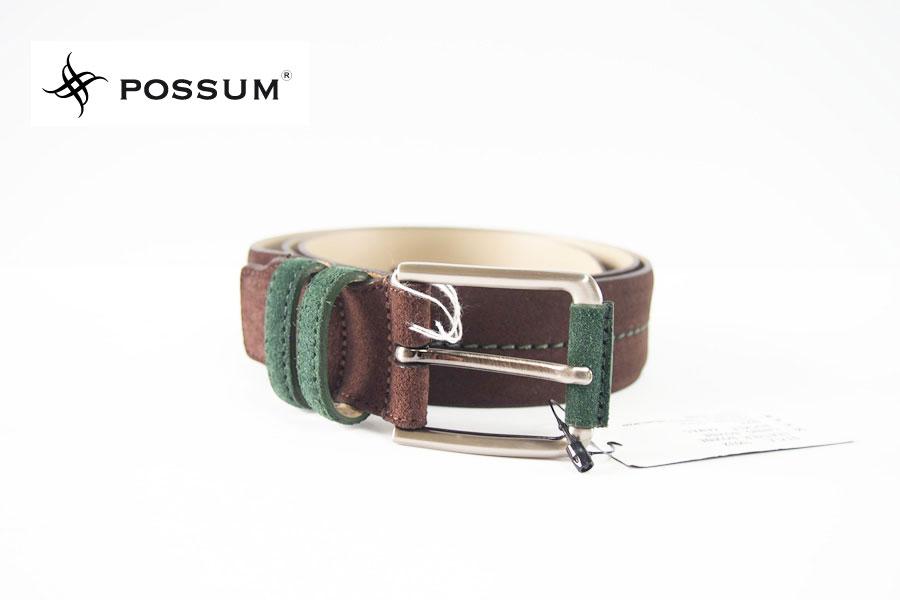 ポッシュム|POSSUM|スエードベルト(ブラウン×グリーン)イメージ01