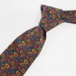 ルイファグラン|LOUIS FAGLIN|クラヴァット ボワバン|コラボ|稀少|'50~'80年代デッド生地使用ネクタイ|ペイズリー柄|グリーンベースイメージ012