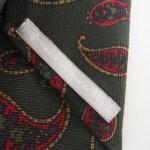 ルイファグラン|LOUIS FAGLIN|クラヴァット ボワバン|コラボ|稀少|'50~'80年代デッド生地使用ネクタイ|ビッグペイズリー柄|グリーンイメージ08