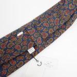 ルイファグラン|LOUIS FAGLIN|クラヴァット ボワバン|コラボ|稀少|'50~'80年代デッド生地使用ネクタイ|ペイズリー柄|ネイビー系イメージ010