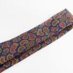 ルイファグラン|LOUIS FAGLIN|クラヴァット ボワバン|コラボ|稀少|'50~'80年代デッド生地使用ネクタイ|ペイズリー柄|ネイビー系イメージ011