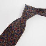 ルイファグラン|LOUIS FAGLIN|クラヴァット ボワバン|コラボ|稀少|'50~'80年代デッド生地使用ネクタイ|ペイズリー柄|ネイビー系イメージ014