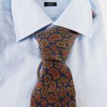 ルイファグラン|LOUIS FAGLIN|クラヴァット ボワバン|コラボ|稀少|'50~'80年代デッド生地使用ネクタイ|ペイズリー柄|ネイビー系イメージ016