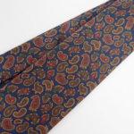 ルイファグラン|LOUIS FAGLIN|クラヴァット ボワバン|コラボ|稀少|'50~'80年代デッド生地使用ネクタイ|ペイズリー柄|ネイビー系イメージ02