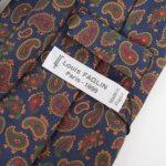 ルイファグラン|LOUIS FAGLIN|クラヴァット ボワバン|コラボ|稀少|'50~'80年代デッド生地使用ネクタイ|ペイズリー柄|ネイビー系イメージ04