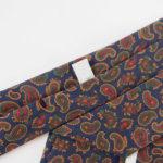 ルイファグラン|LOUIS FAGLIN|クラヴァット ボワバン|コラボ|稀少|'50~'80年代デッド生地使用ネクタイ|ペイズリー柄|ネイビー系イメージ05