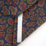 ルイファグラン|LOUIS FAGLIN|クラヴァット ボワバン|コラボ|稀少|'50~'80年代デッド生地使用ネクタイ|ペイズリー柄|ネイビー系イメージ07