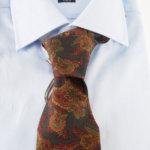 ルイファグラン|LOUIS FAGLIN|クラヴァット ボワバン|コラボ|稀少|'50~'80年代デッド生地使用ネクタイ|フラワー柄|ダークグリーン系イメージ011