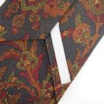 ルイファグラン|LOUIS FAGLIN|クラヴァット ボワバン|コラボ|稀少|'50~'80年代デッド生地使用ネクタイ|フラワー柄|ダークグリーン系イメージ07