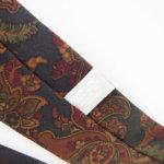 ルイファグラン|LOUIS FAGLIN|クラヴァット ボワバン|コラボ|稀少|'50~'80年代デッド生地使用ネクタイ|フラワー柄|ダークグリーン系イメージ08