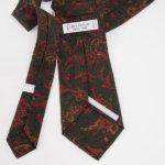 ルイファグラン|LOUIS FAGLIN|クラヴァット ボワバン|コラボ|稀少|'50~'80年代デッド生地使用ネクタイ|フラワー柄|グリーン系イメージ06