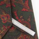 ルイファグラン|LOUIS FAGLIN|クラヴァット ボワバン|コラボ|稀少|'50~'80年代デッド生地使用ネクタイ|フラワー柄|グリーン系イメージ07