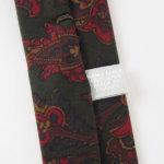 ルイファグラン|LOUIS FAGLIN|クラヴァット ボワバン|コラボ|稀少|'50~'80年代デッド生地使用ネクタイ|フラワー柄|グリーン系イメージ08
