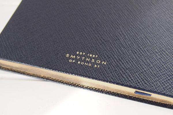 スマイソン|SMYTHSON|SOHOノートブック|ミドルサイズノート|ネイビーイメージ03