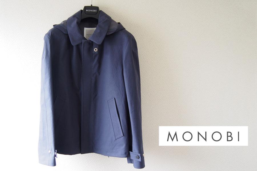 モノビー|MONOBI|ゴム引きショート丈コート|S|コットン100%イメージ01