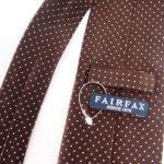 フェアファックス|FAIRFAX|ドット柄シルクネクタイ|ブラウンイメージ05