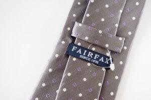 フェアファックス|FAIRFAX|ドット柄シルクネクタイ|グレイイメージ04