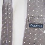 フェアファックス|FAIRFAX|ドット柄シルクネクタイ|グレイイメージ05