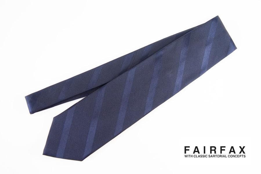 フェアファックス|FAIRFAX|レジメンタルシルクネクタイ|ネイビーイメージ01