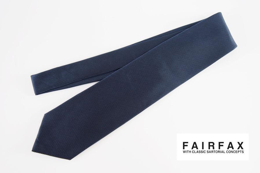 フェアファックス|FAIRFAX|ソリッドシルクネクタイ|ネイビー(1)イメージ01
