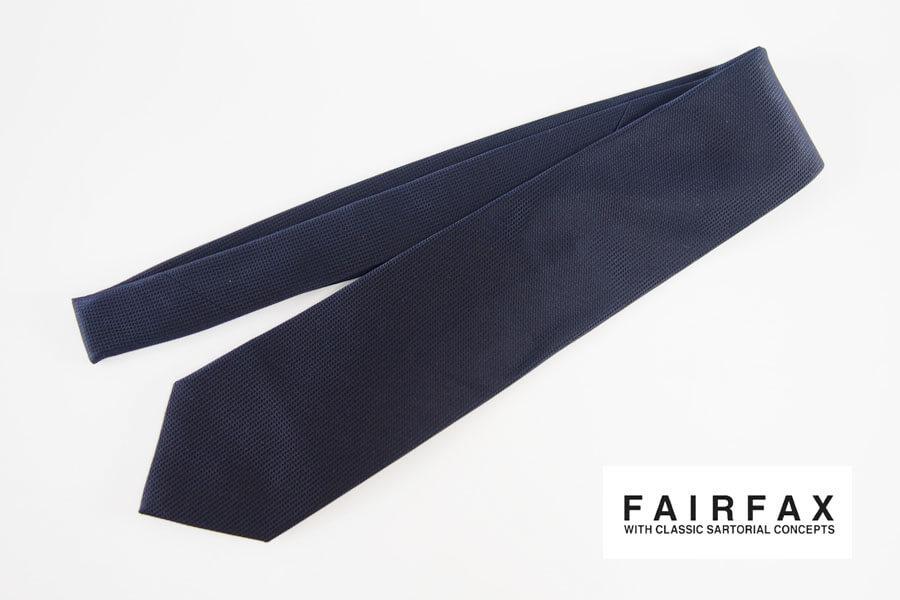 フェアファックス|FAIRFAX|ソリッドシルクネクタイ|ネイビー(2)イメージ01