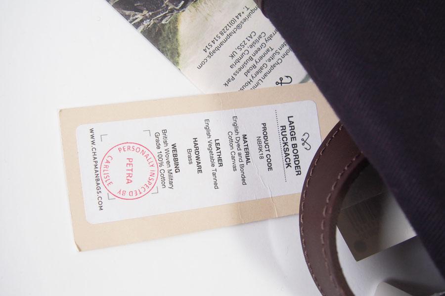 ジョンチャップマン|JOHN CHAPMAN|バックパック|リュックサック|Large City Rucksack デイバッグイメージ08