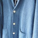 ドルモア|Drumohr|リネンニットジャケット|ブルーイメージ06