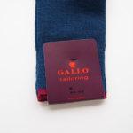 ガッロ GALLO ロングホーズソックス ウール×コットン×ナイロン ライトグリーン×ネイビー T2413イメージ02
