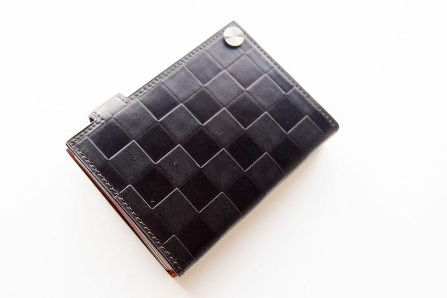 博庵|ヒロアン|HIROAN|コードバン|カードケース|市松模様イメージ08