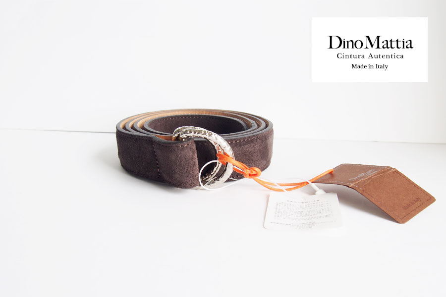 ディノマッティア|Dino Mattia|スエードWリングベルト|100|ダークブラウンイメージ01