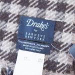 ドレイクス|Drake's|バーニーズニューヨーク別注|ウール×アンゴラ ブロックチェック マフラー|ストールイメージ02