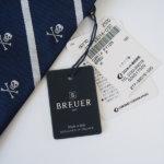 ブリューワー|BREUER|スカル柄|シルクレジメンタルネクタイ|ネイビーイメージ03
