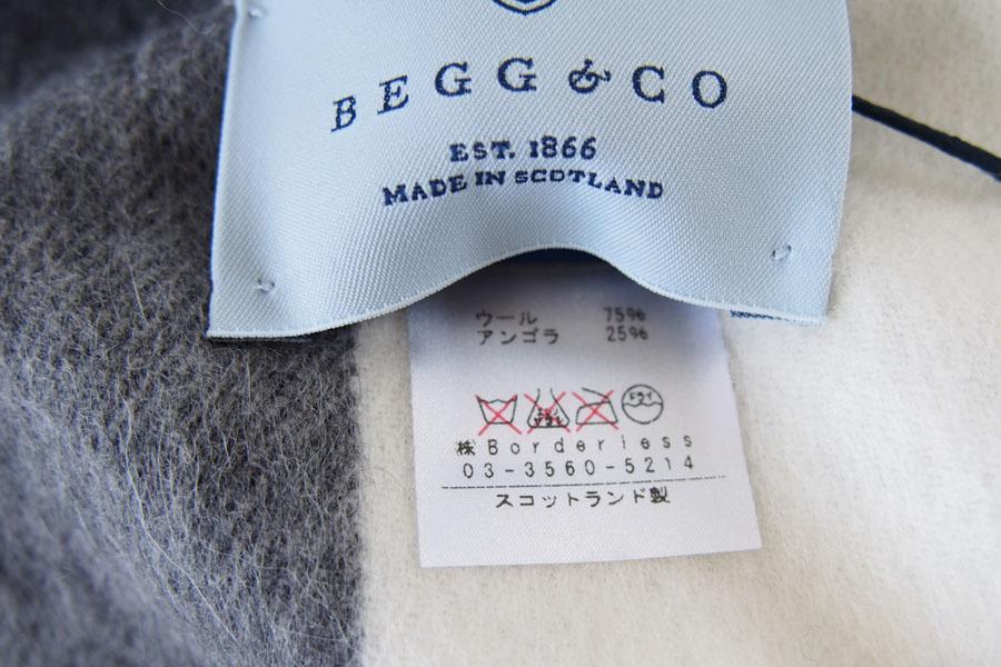 ベグ アンド コー|BEGG & CO|JURAウールアンゴラチェックマフラー|CLOVA|WHITE GREYイメージ04