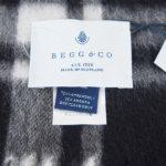 ベグ アンド コー|BEGG & CO|JURAウールアンゴラチェックマフラー|WAVE|オリーブイメージ03