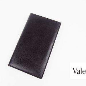 【中古】ヴァレクストラ|Valextra|ヴァーティカル 12カード札入れ|ダークブラウン|グレインカーフスキンイメージ01