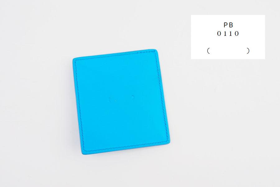 ピービーゼロワンワンゼロ|PB0110|ナチュラルレザーコインケース|ブルーイメージ01