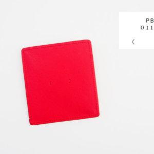 ピービーゼロワンワンゼロ|PB0110|ナチュラルレザーコインケース|レッドイメージ01