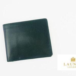 <ロウナーロンドン>折財布グリーンカーフ×リザードイメージ01