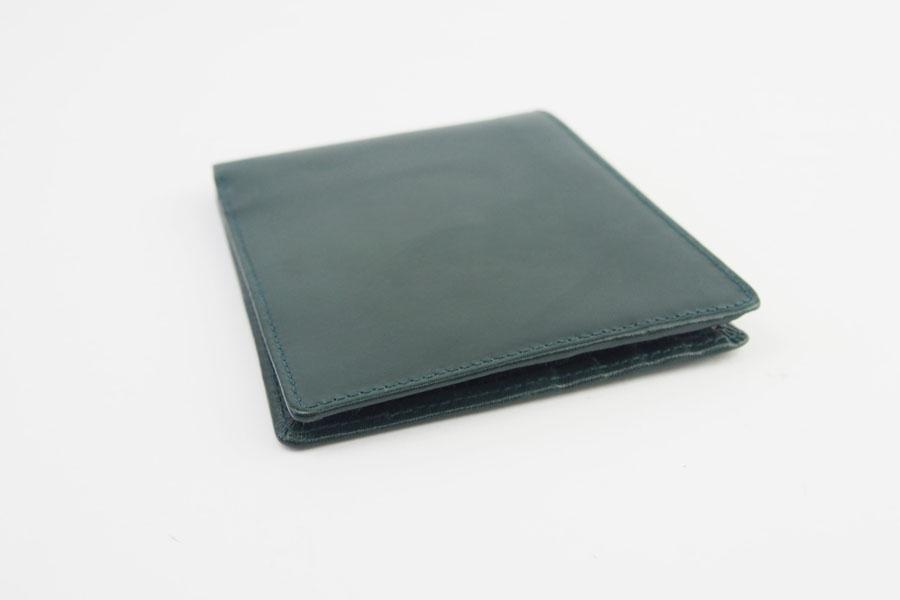 <ロウナーロンドン>折財布グリーンカーフ×リザードイメージ02